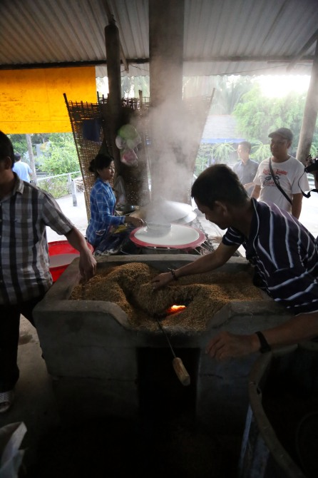 Cuisson des galettes de riz